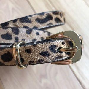 J. Crew cheetah/leopard skinny textured belt XS/S